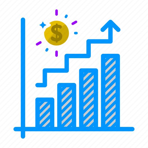 analytics, business, chart, finance, growth, metrics, sales icon