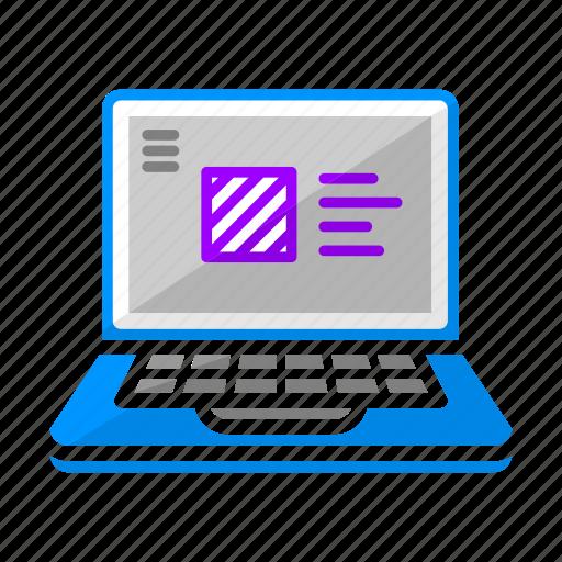design, interface, laptopo, ui, ux, web design, work icon