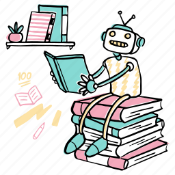 machine, learning, robot, books, ai