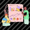 analyze, data, charts, graph, analysis