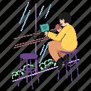 nomad, digital, shop, coffee, in, working