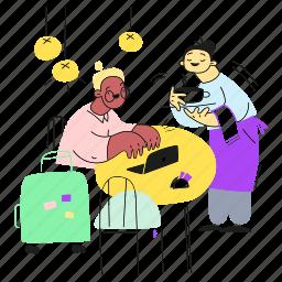 in, digital, shop, coffee, nomad, working