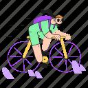 work, commute, bicycle, biking, biker