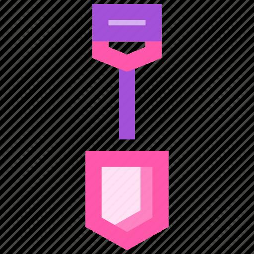 construction, equipment, shovel, work icon