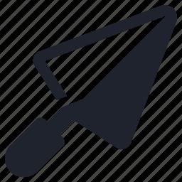 building, renovation, repair, tools, trowel icon