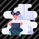 workflow, work, laptop, computer, home, people