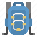 backpack, bag, workday icon