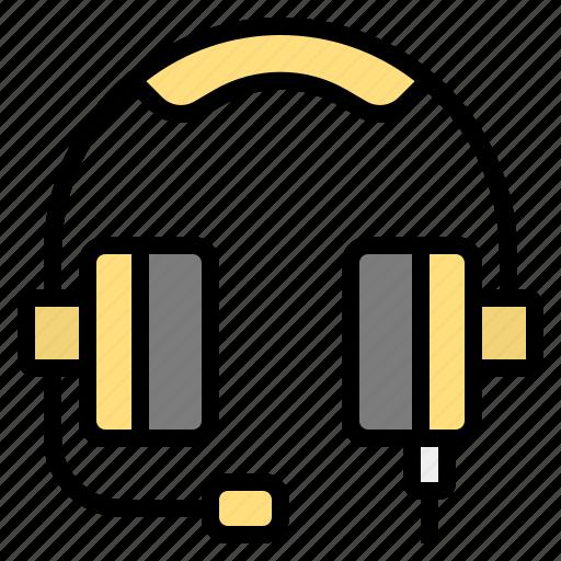 headphone, music, workday icon
