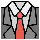 cloth, offcial, suit, workday icon