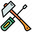 hammer, labor, labour, mechanic, repair, tools icon