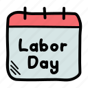 calendar, day, holiday, labor, labour, worker icon