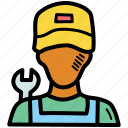 labor, may, mechanic, worker icon