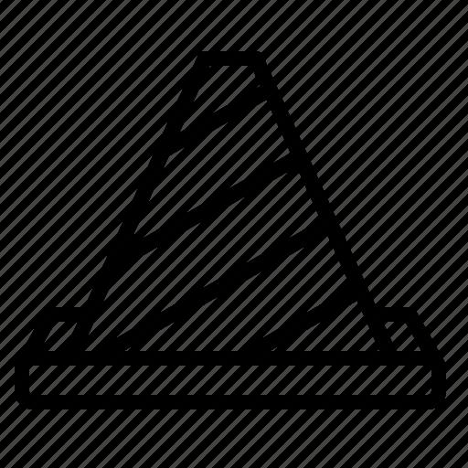 cone, construction, labor, work icon