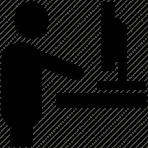 businessman, employee, internet surfer, user, web user, worker icon