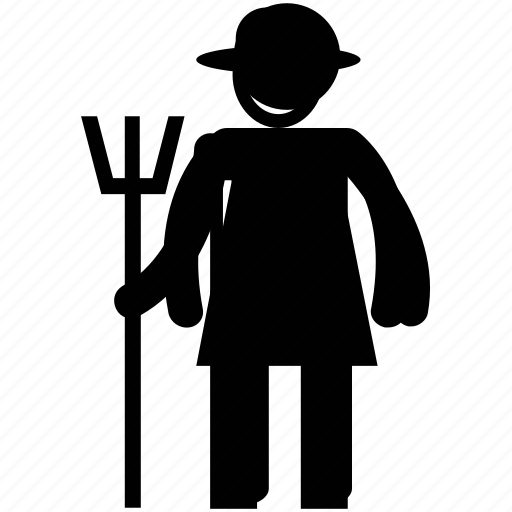 agriculturist, cultivator, farmer, peasant, peasant man icon