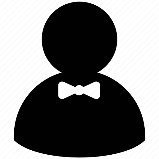 avatar, bow tie, figure, man silhouette, stick man icon