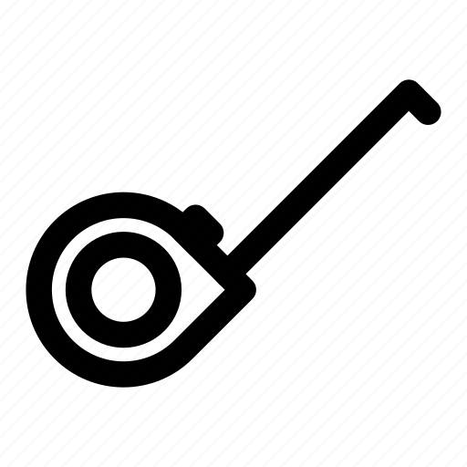 measuring, ruler, tape, tools, workshop icon