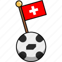 ball, cup, flag, football, soccer, switzerland, world icon