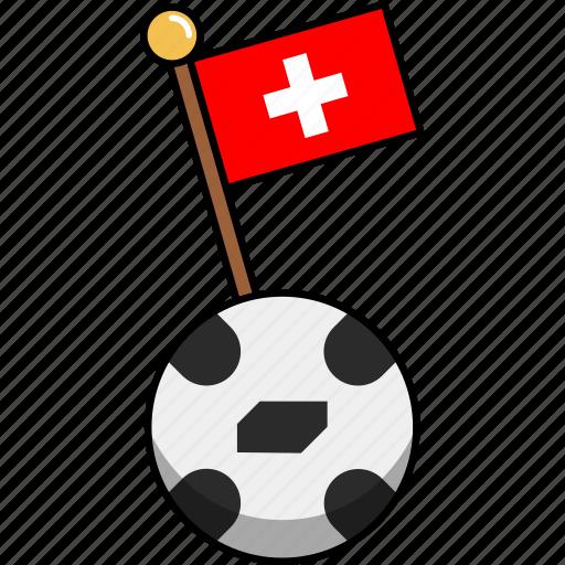 ball, cup, flag, football, soccer, switzerland, world icon