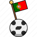 ball, cup, flag, football, portugal, soccer, world icon