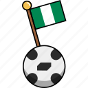 ball, cup, flag, football, nigeria, soccer, world icon