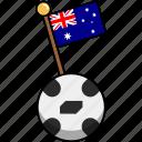 australia, ball, cup, flag, football, soccer, world icon