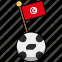cup, flag, football, soccer, tunisia, world, ball