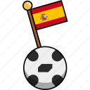 ball, cup, flag, football, soccer, spain, world icon
