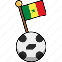 ball, cup, flag, football, senegal, soccer, world icon