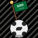 ball, cup, flag, football, saudi arabia, soccer, world icon
