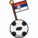 ball, cup, flag, football, serbia, soccer, world icon