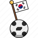 cup, flag, football, korea, soccer, south korea, world icon
