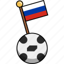 ball, cup, flag, football, russia, soccer, world icon