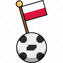 ball, cup, flag, football, poland, soccer, world icon