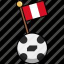 cup, flag, football, peru, soccer, world, ball icon