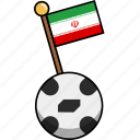 ball, cup, flag, football, iran, soccer, world icon