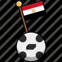 cup, egypt, flag, football, soccer, world, ball