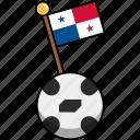 cup, flag, football, panama, soccer, world, ball