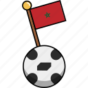 cup, flag, football, morocco, soccer, world, ball