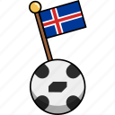 ball, cup, flag, football, iceland, soccer, world icon