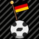 cup, flag, football, germany, soccer, world, ball