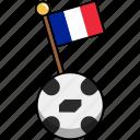 cup, flag, football, france, soccer, world, ball