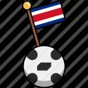 ball, costa rica, cup, flag, football, soccer, world icon