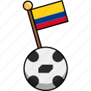 ball, colombia, cup, flag, football, soccer, world icon