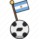 argentina, ball, cup, flag, football, soccer, world icon