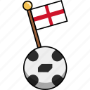 cup, england, flag, football, soccer, world, ball