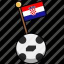 croatia, cup, flag, football, soccer, world, ball