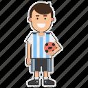 argentina, cup, football, player, soccer, sticker, world