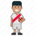 cup, football, peru, player, soccer, sticker, world icon