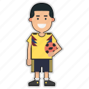 colombia, cup, football, player, soccer, sticker, world icon